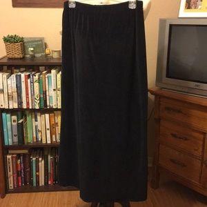 Maxi Velour skirt
